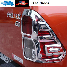 Full Tail Lamp Light Cover Chrome Trim For Toyota Hilux Revo 2015>