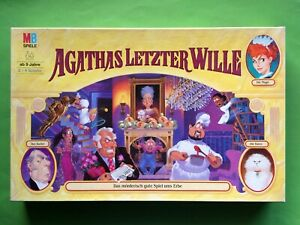 AGATHAS LETZTER WILLE Spiel MB Box 1994 OVP Brett NEU Alte GELBE Erste GROßE 80