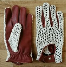 String Back Leather Driving Gloves(Size Medium)