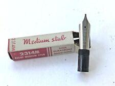 Esterbrook Fountain Pen Nib - 2314-M Relief Medium Stub, New in Box + nib chart