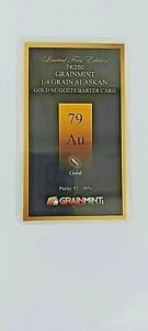 1/4 Grain of Alaskan Gold Nuggets in sealed investment card Amazing price with f