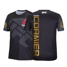 Daniel Cormier Reebok UFC Men's Black Fight Kit Champion Gold Walkout Jersey