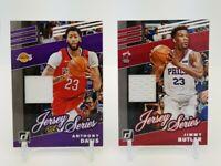 2019-20 Donruss ANTHONY DAVIS & JIMMY BUTLER Jersey Series Relic Insert Card Lot