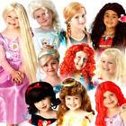 Disney Princess Wigs Girls Fancy Dress Fairy Tale Book Day Kid Costume Accessory