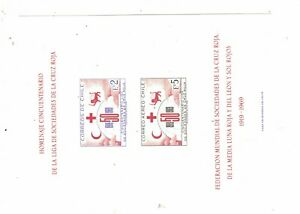 Chile Red Cross S/S After SC C291 Unused (1dqd)