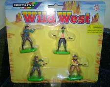 Britains Wild West Cowboys pack of 4 deetail figures carded