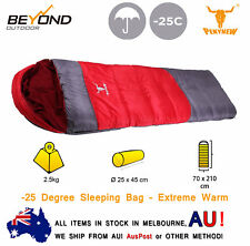 -25°C Outdoor Camping Envelope Sleeping Bag Thermal Tent Hiking Winter Single