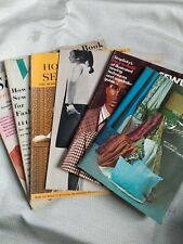 Vintage Sewing Book Collection, 5 magazine and a leftlet. Great information!