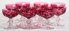 12 Val Saint Lambert Crystal Champagne Glasses
