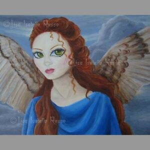 Angel Fairy ART Fantasy Surreal Big Eye Goddess Lowbrow Print Lisabella Russo