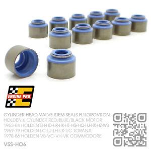 VALVE STEM SEALS 6 CYL 161-173-186-202 MOTOR [HOLDEN LC-LJ-LH-LX-UC TORANA/GTR]