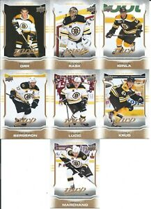 2014-15 Upper Deck MVP Team Set Boston Bruins ORR BERGERON CHARA MARCHAND & +