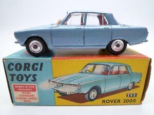 VINTAGE CORGI 252 ROVER 2000 IN ORIGINAL BOX ISSUED 1963-66
