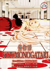 DVD Anime KIZUMONOGATARI Part 1,2,3 Tekketsu Nekketsu Reiketsu English Subtitle