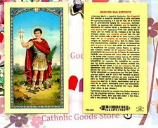 San Expedito - Oracion San Expedito - Spanish - Laminated  Holy Card