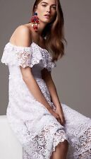 BNWT H&M Beautiful White Off-shoulder Lace Dress 👗 Size 36EU 10UK Rrp £80