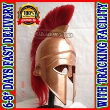 Ancient Armour Greek Corinthian Helmet w/Red Plume Role-Play Theatarical Costume