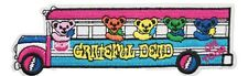 """New listing Grateful Dead Tour Bus Embroidered 5"""" Wide Iron on Patch"""