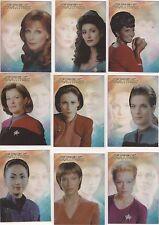 "Women Of Star Trek - ""Leading Ladies"" Set Of 9 Chase Cards #LL1-9"