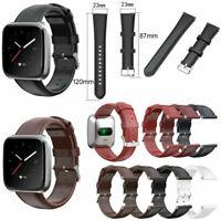 Für Fitbit Versa 2 / Versa Lite Watch Leder Armband Uhrenarmband Band Strap NEU