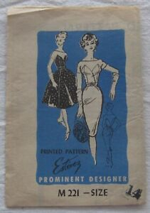 Vintage Dress Sewing Pattern*Size 14*CUT*Mail Order*Luis Estevez*M221*cocktail