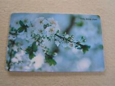 TURKEY used chipcard  flower.  White flowers