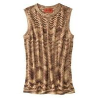 Missoni Metallic Gold Knit Chevron Tank Sweater - Women's X-Small XS