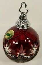 Waterford Crystal Winter Wonderland 2005 Ruby Red Ball Christmas Ornament 135438