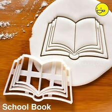 Book cookie cutter - Back to School party supplies kids bookworm teachers day