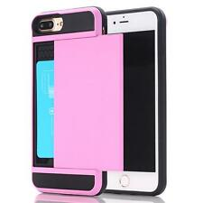 Hard Card Back Phone Case Cover + Tempered Glass Screen Film For iPhone Series