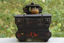 Vintage Cast Iron Stove Cookie Jar from McCoy USA