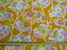 Westminster Cotton Fabric Lottie Da Heather Bailey Big Flowers Orange Purple BTY