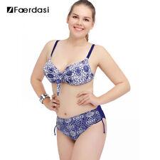 Faerdasi Retro High Waist Bikini Blue Size XXL LF084 EE 08