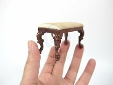Miniature 1:12 Scale Rococo Style Victorian Grand Piano Stool For Doll House-WN