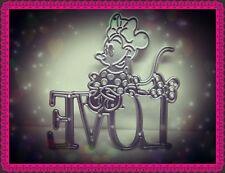 Lindo ratón amor Corte De Metales Die, Chica, dibujos animados, Craft, elaboración de tarjetas, Scrapbook, hazlo tú mismo