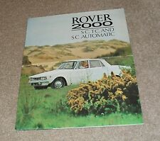 Rover 2000 Brochure 1967 - 2000 SC - 2000 TC - 2000 SC Automatic