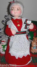 San Francisco Music Box Company Mrs. Santa Claus 1988 Wish You A Merry Christmas
