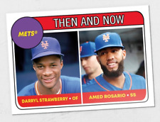 2018 Topps TBT '69 ROOKIE STARS DESIGN #69 AMED ROSARIO / DARRYL STRAWBERRY METS