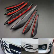 6X Universal Gloss Black Front Bumper Body Fins Spoiler Canards Auto Refit Kit