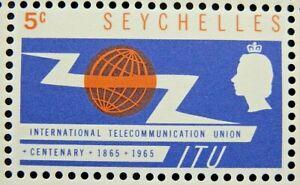 SEYCHELLES 1965 SG218 5c. ITU CENTENARY  -  MNH