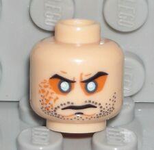 LEGO Light Flesh Head Beard Stubble Evil Blue Eyes Zolm Minifigure 7572