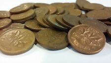 FULL ROLL 1968 CANADA ONE CENT PENNIES CIRCULATED