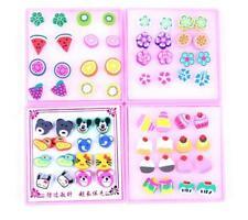Cartoon hand-cut scoop Plastic Stick Stud Earrings Fashion Jewelry 40pairs / lot