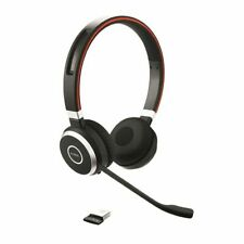 Jabra Evolve 65 Wireless Headset With Cable, Case & USB Dongle Link 370 UC