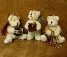 Russ Berrie Ornament #4574 set of three BEAR ORNAMENTS New From Retail Store