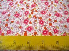 M. Miller Fabric Sara Jane Summer Tiny Flowers Pinks 4 Quilts & Pillows
