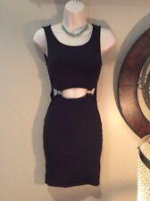 Leith Black Cut Out Dress Xs