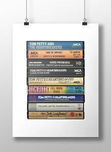 Tom Petty Poster: Cassette Print, Tom Petty Heartbreakers, Fan, Gift, Art,