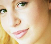 60x mujer VENENO Piercing de nariz Estrás CIRCONITA Cristal Enchufe Set Joyas