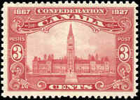 1927 Mint NH Canada F+ Scott #143 3c Confederation Anniversary Issue Stamp